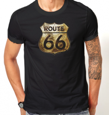 Футболка с принтом шоссе 66 (Route 66)