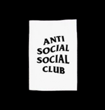 Футболка с принтом Anti social social club