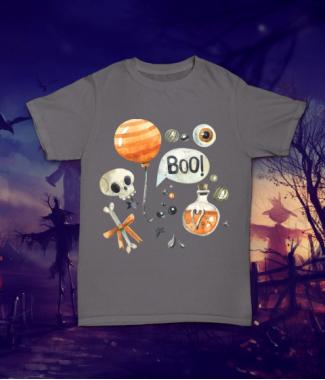 Футболка с принтом Хэллоуин BOO!
