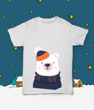 Футболка с принтом Медведь