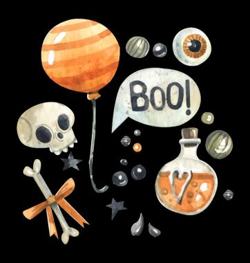 Свитшот с принтом Хэллоуин BOO!