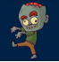 Свитшот с принтом Зомби