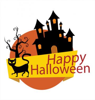 Свитшот с принтом Happy Halloween