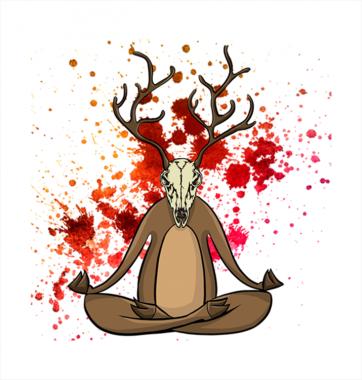Свитшот с принтом Кровавый Лось