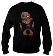 Свитшот с принтом Робот Зомби