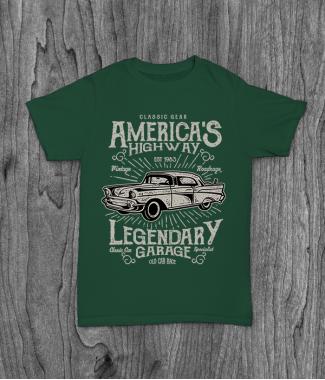 Футболка с принтом America's  Highway