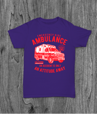 Футболка с принтом Ambulance