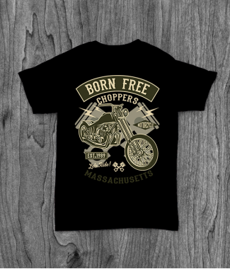 Футболка с принтом Born Free Choppers