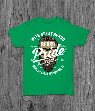 Футболка с принтом Beard Pride