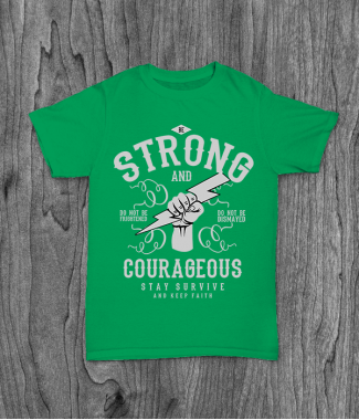 Футболка с принтом Be Strong and Courageous