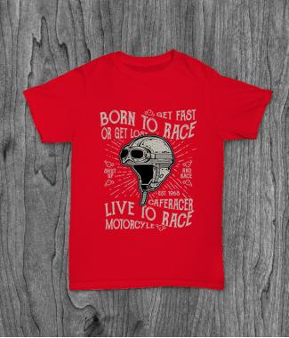 Футболка с принтом Born To Race