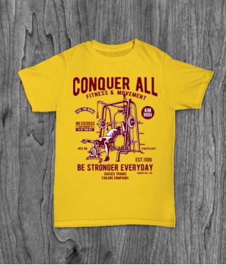Футболка с принтом Conquer All