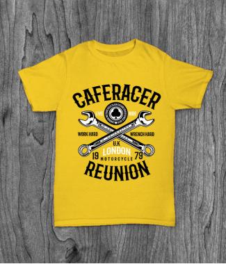 Футболка с принтом Caferacer Reunion