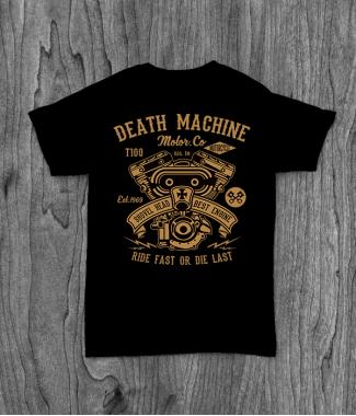 Футболка с принтом Death Machine