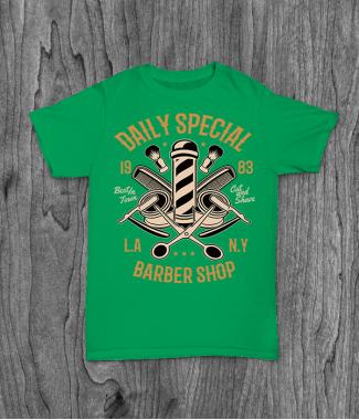 Футболка с принтом Daily Special Barber Shop
