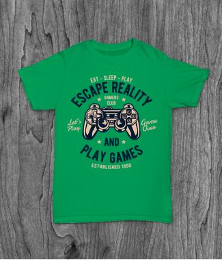Футболка с принтом Escape Reality