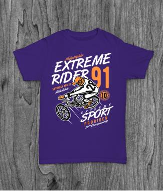 Футболка с принтом Extreme Rider