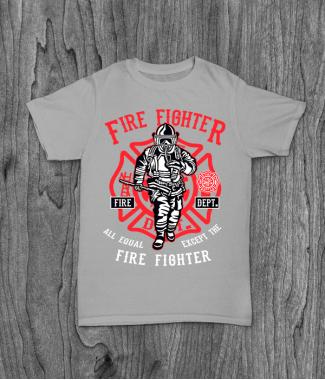 Футболка с принтом Fire Fighter