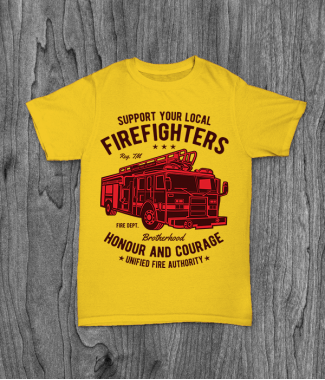 Футболка с принтом Fire Fighters Truck