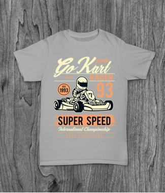 Футболка с принтом Go Kart Racer