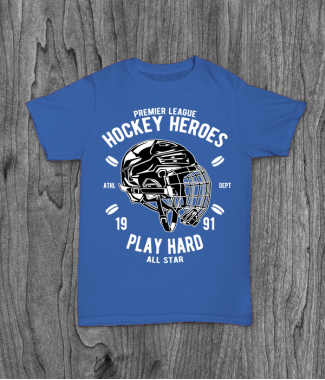 Футболка с принтом Hockey Heroes