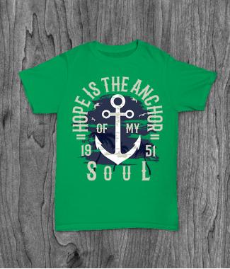 Футболка с принтом Hope Is The Anchor