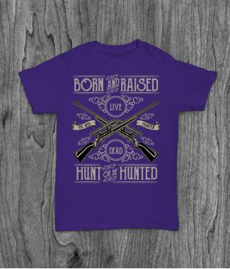 Футболка с принтом Hunt Or Be Hunted