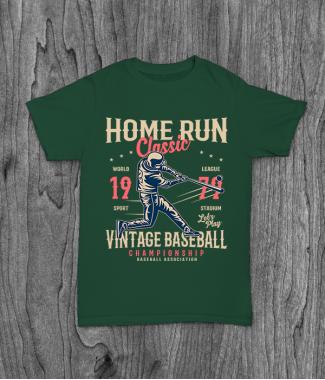 Футболка с принтом Home Run Classic