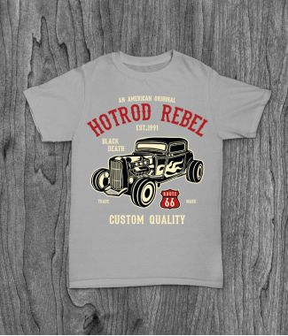 Футболка с принтом Hot Rod Rebel