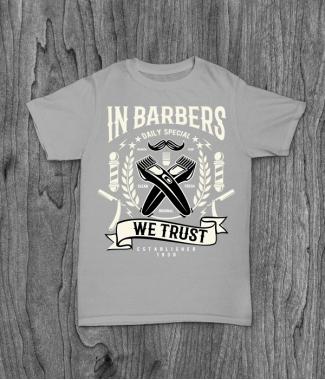 Футболка с принтом In Barbers We Trust