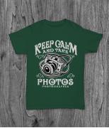 Футболка с принтом Keep Calm And Take Photos