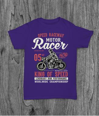 Футболка с принтом Motor Racer