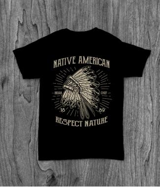 Футболка с принтом Native American 1