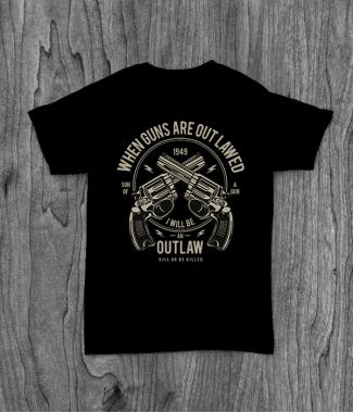 Футболка с принтом Outlaw