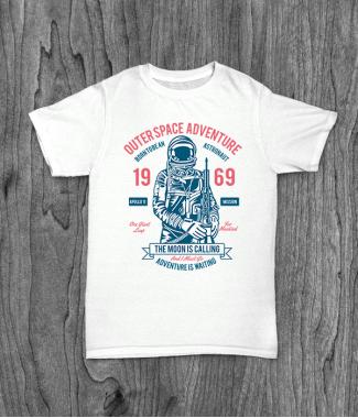 Футболка с принтом Outerspace Adventure 69