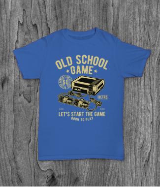 Футболка с принтом Old School Game