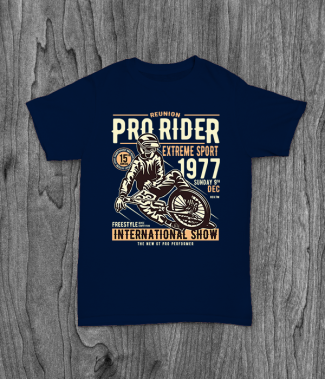 Футболка с принтом Pro Rider