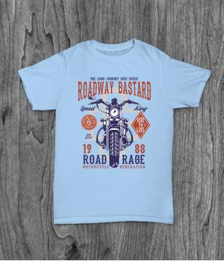 Футболка с принтом Roadway Bastard