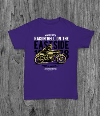 Футболка с принтом Raisin Hell Moto Racer