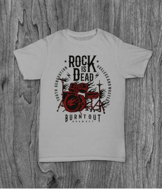 Футболка с принтом Rock Is Dead 2
