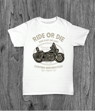 Футболка с принтом Ride Or Die