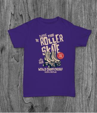 Футболка с принтом Roller Skate