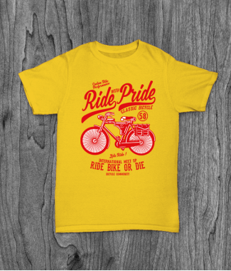 Футболка с принтом Ride With Pride