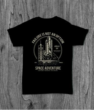 Футболка с принтом Space Adventure