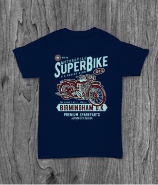 Футболка с принтом Super Bike