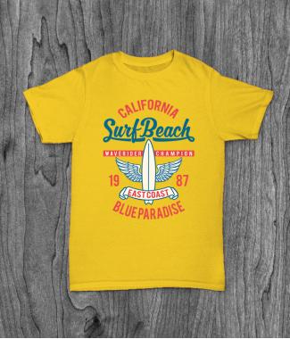 Футболка с принтом Surf Beach