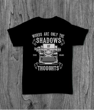 Футболка с принтом Shadows Of Thoughts