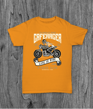Футболка с принтом Speed Of Caferacer