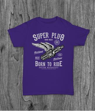 Футболка с принтом Super Plug