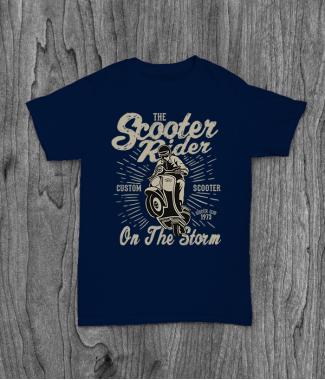Футболка с принтом Scooter Rider